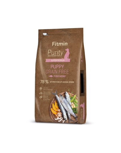 FITMIN Dog Purity Grain free puppy fish 12 kg