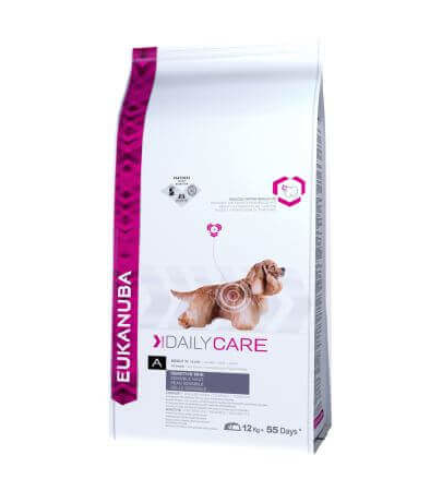 EUKANUBA Daily Care Adult Sensitive Skin All Breeds 12 kg